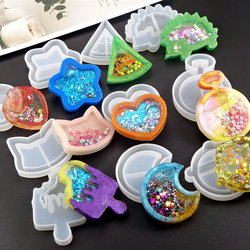 Crystal Pendant Star Moon Resin Mould Silicone Mold Jewelry Making UV Epoxy