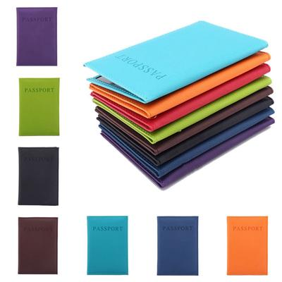 8 Colors Zipper Leather Cover The Passport Covers Visiting Cards Card Holder Traveling Documents