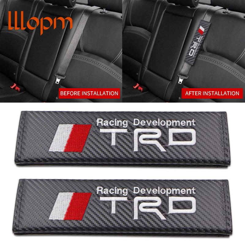 Audi Car Seat Belt Safety Shoulder Strap Cover Cushion Pad Harness Carbon Fiber