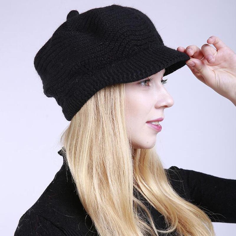 Мода Твердый цвет Руна вязаный мягкий кролик Шерсть Пик Сладкий Симпатичный стиль – купить по низким ценам в интернет-магазине Joom