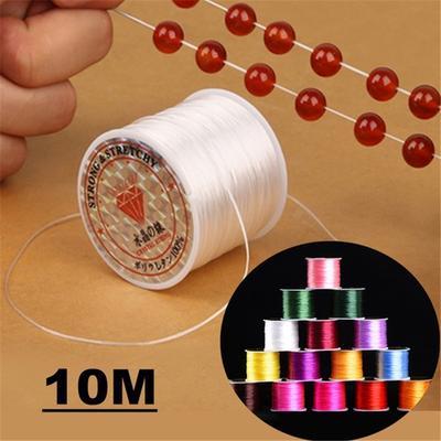 1 rouleau clair fil élastique faisant des bijoux accessoires de cordon 100