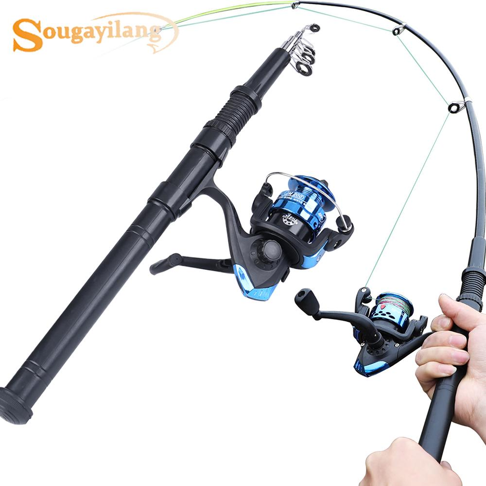 Buy Fishing Rod and Fishing Reel Combos Telescopic Fishing Rod Lightweight Fishing  Reel Fishing Tackle at affordable prices, price 29 USD — 📦free shipping,  ⭐real reviews with photos — Joom