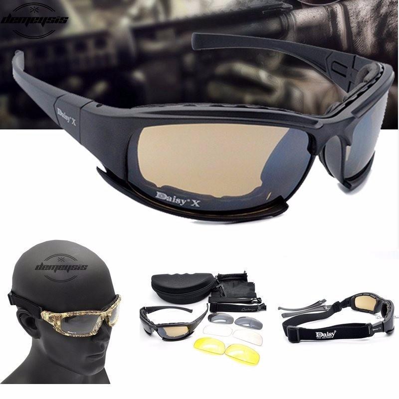 5363e680f6 Daisy X7 Polarized Sunglasses Men Polarized Sport Glasses 4 Lens ...