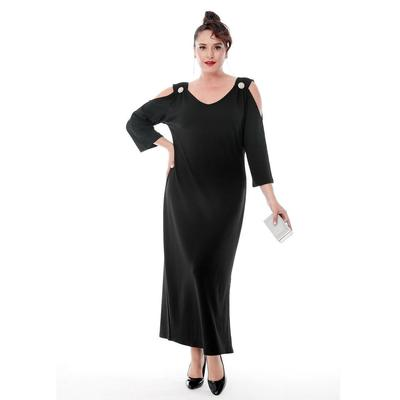 Plus Size Shoulder Brooch Elegant Dress