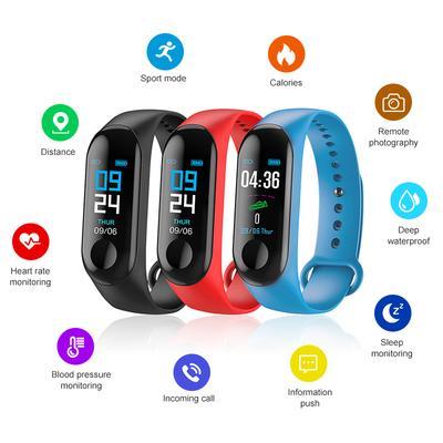 c6d57b23b432e M3 yeni akıllı Izle kalp hızı kan basıncı Tracker spor Smartbilezik PK  Xiaomi mi Band 3
