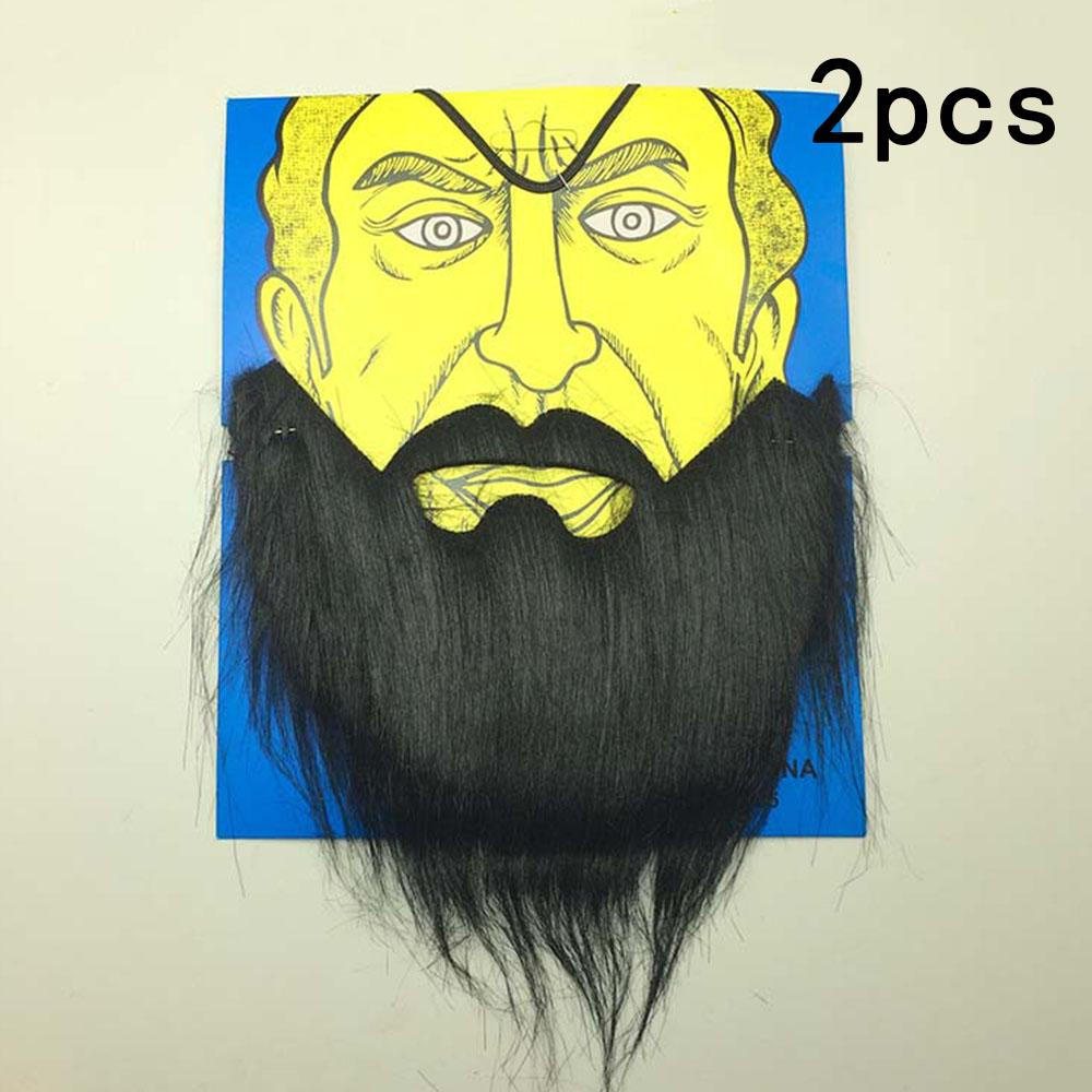 Funny Costume Prom Props Party Fake Beard Moustache Wig Facial Hair Fancy Dress