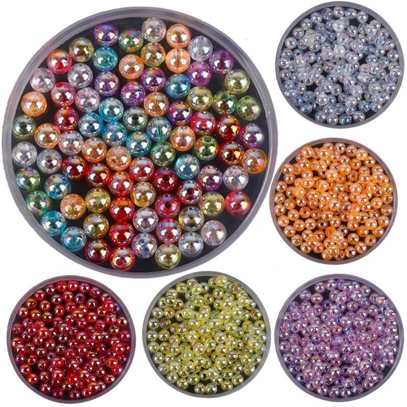 DIY Акриловые бусины для изготовления ювелирных изделий. 23 цвета, размер 6-12 мм – купить по низким ценам в интернет-магазине Joom