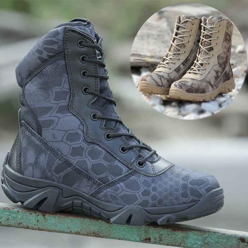 Army Men Commando Combat désert extérieur camouflage randonnée imperméables Bottes d'atterrissage Chaussures militaire voAE9chW