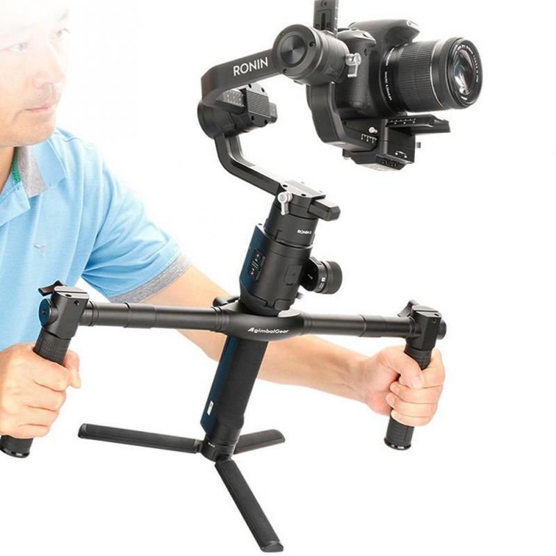 Dual Handheld Grip Aluminum Alloy Stabilizer for DJI Ronin-S Durable
