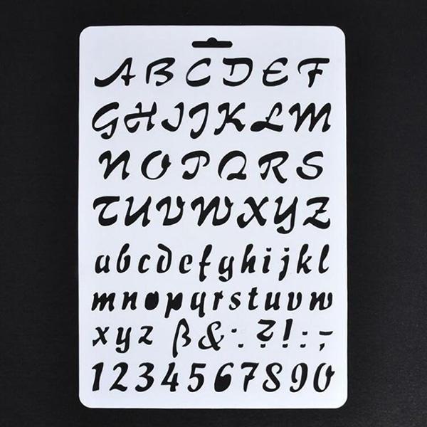 Número de capas de pintura carta alfabeto plantillas de tarjetas de papel BF