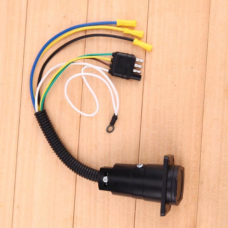 4-Wege, 7way flache elektrische Adapter Anhänger Stecker Anhänger ...