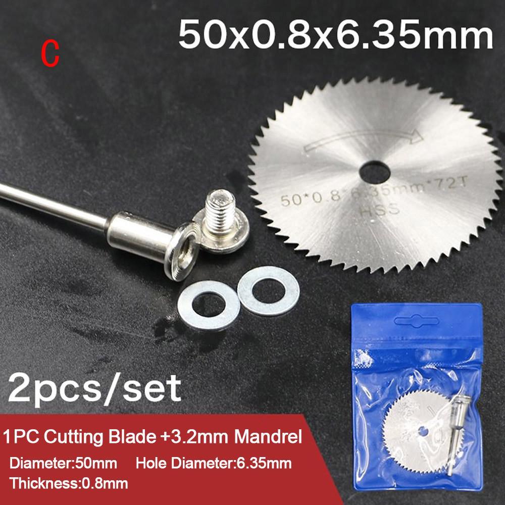 5Pcs 20-50mm Diamond Cutting Disc Circular Saw Blade 3mm Shank For Rotary Tool
