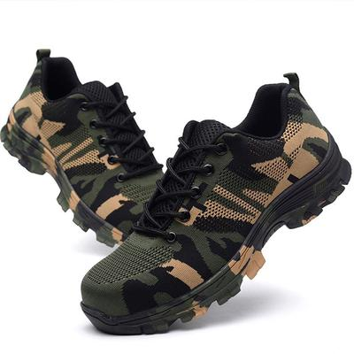 da1fcf7de8d9 Men Mesh Steel Toe Cap Work Safety Shoes Breathable Working Puncture Proof  Protective Footwear