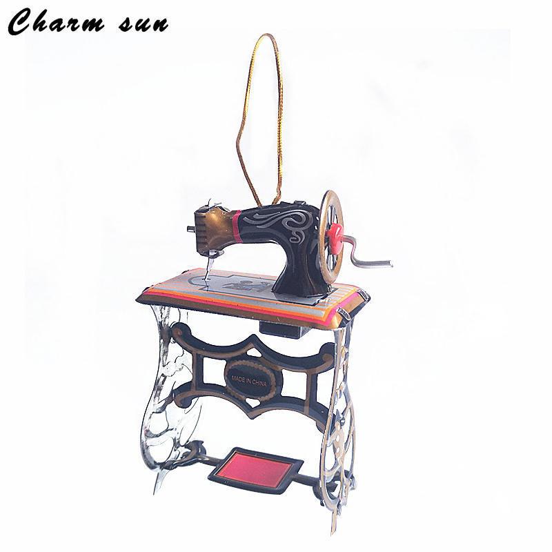 MF413铁皮缝纫机圣诞挂件 装饰挂件