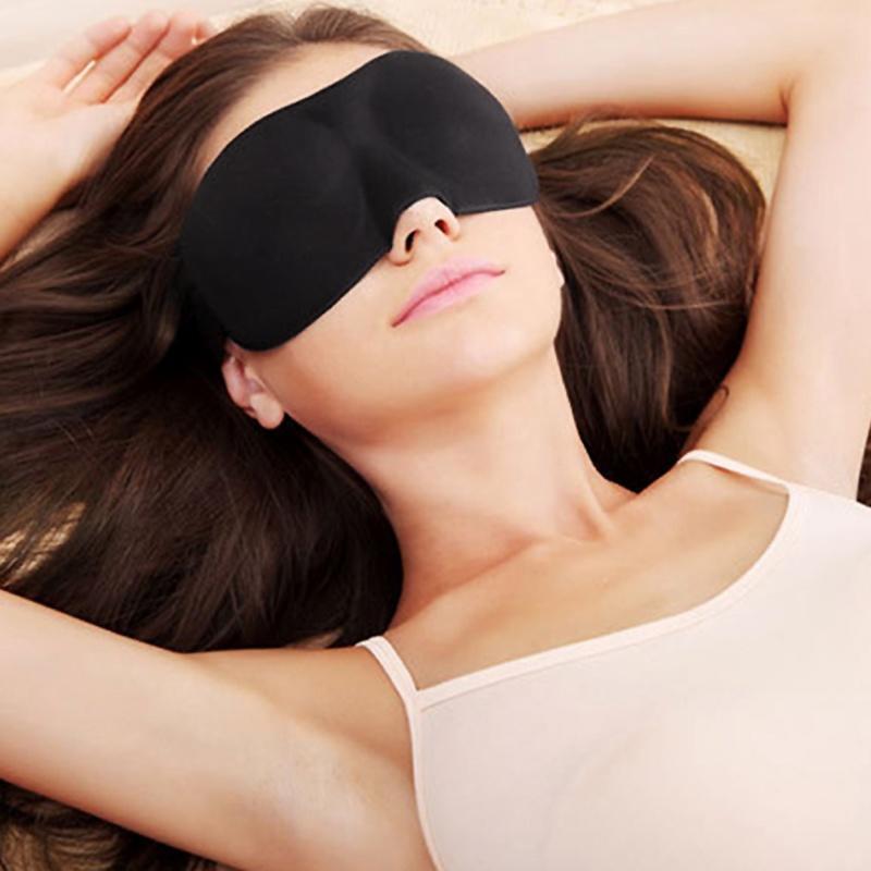Filles Violet Voyage sommeil masque yeux Bandeau ombre Blinder souples élastique reste