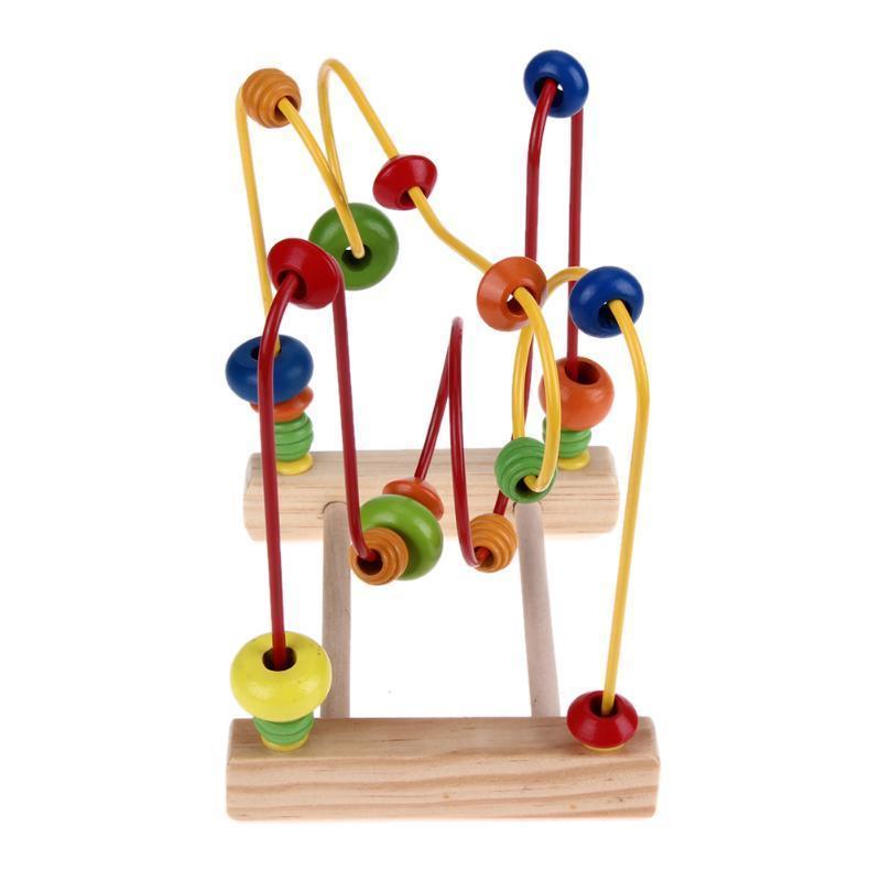 Kinder-Spielzeug Baby bunte Holz Mini Draht Labyrinth Perlen um ...