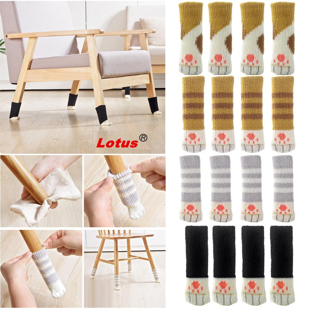 Lovely 4pcs Chair Leg Table Foot, Dining Room Chair Feet Covers
