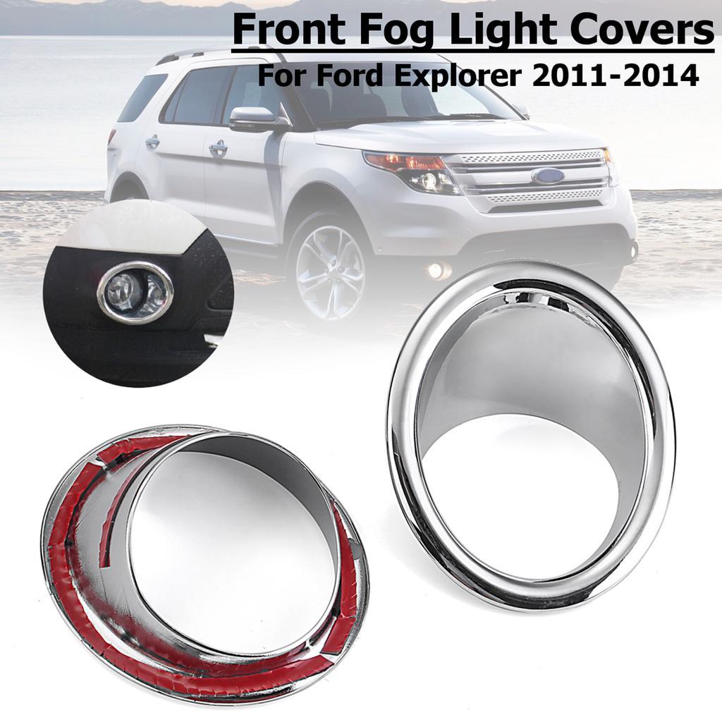 4* ABS Chrome Front Rear Tail Fog Light Lamp Cover for Ford Explorer 2011-2014