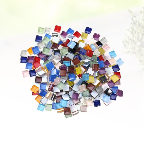 100g Mixed Round Vitreous Glass Mosaic Tiles for Home Decor Arts DIY Crafts