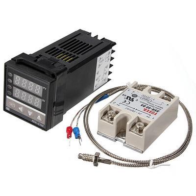 Digital 110-240V 220V REX-C100 Temperature Controller With Max 40A