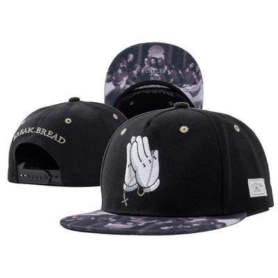 Hand of Jesus Prayer Embroidery Adjustable Hip Hop Baseball Snapback Cap ba8e5c9aaeee