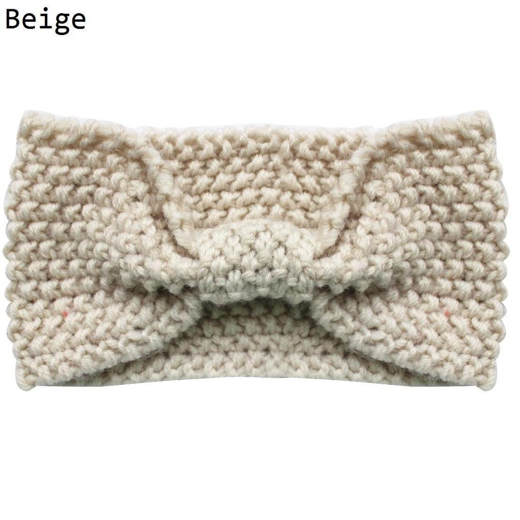 Las mujeres de moda caliente de invierno Crochet tejidos lana punto ...
