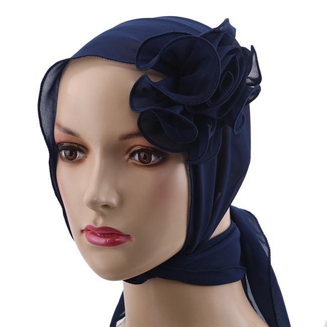 Muslim Women Velvet Hat Stretchable Crystal Headwrap Turban Cap Hijab Head Wrap