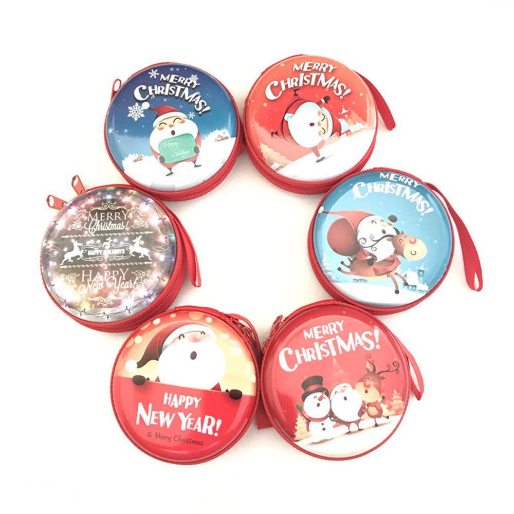 bcd23c7016 Metal coin purse merry christmas santa claus pattern women case