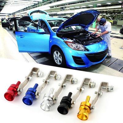 Icarroom Universal Car Turbo Sound Whistle Simulator Sound Pipe Exhaust Muffler Pipe