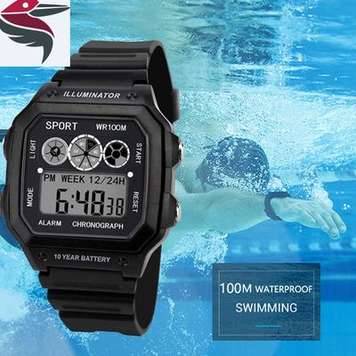 Luxury Men Analog Digital Military Army Sport Led Waterproof Wrist Watch Women Sport Watch Silicone Electronic Watch Waterproof Men's Watches Digital Watches