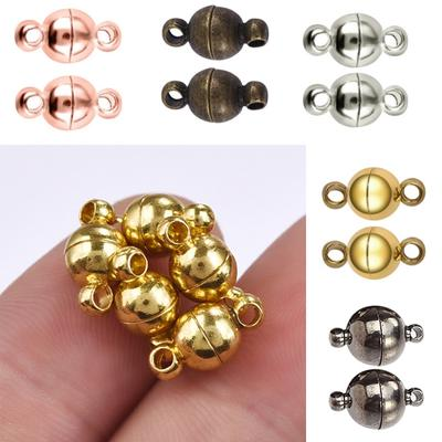 Gold 8mm REVEW 20pcs Rhinestone Round Ball Brass Magnetic Clasps Crystal Pave Ball Magnetic Beads Clasp for Bracelet Necklace Jewelry