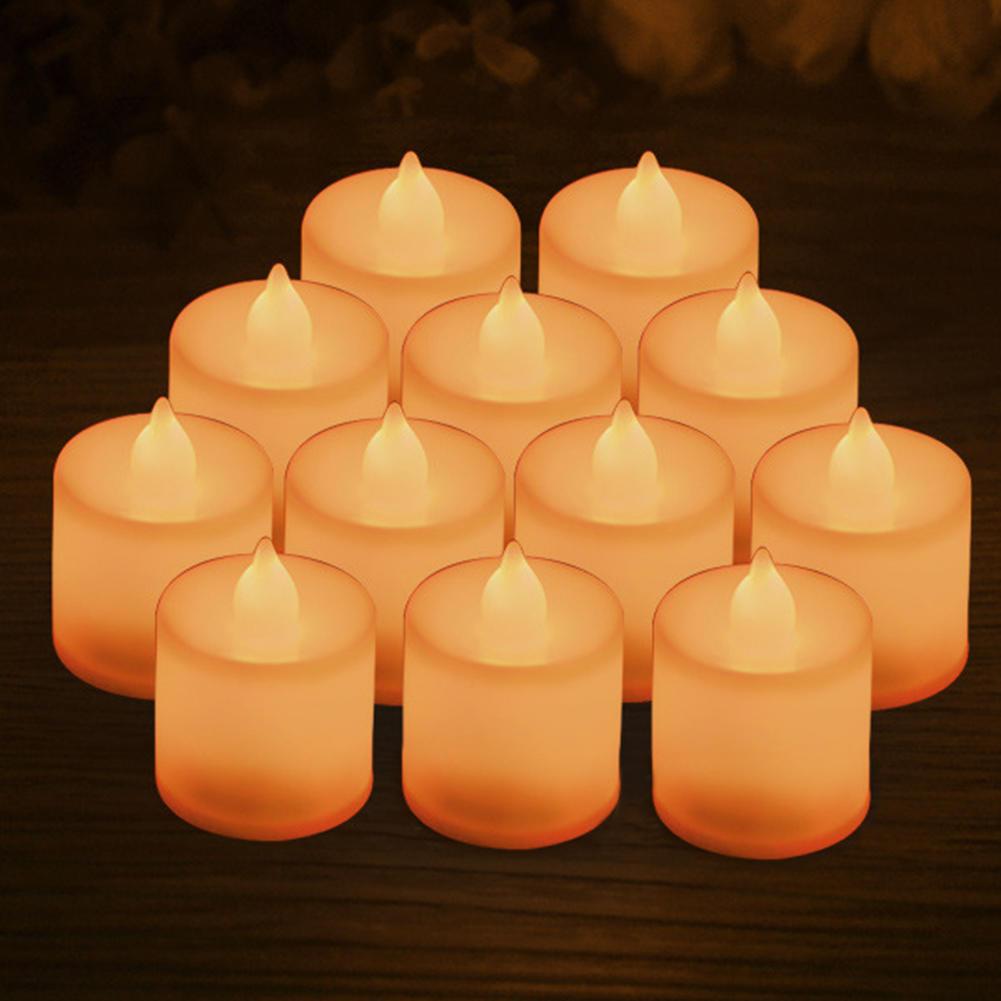 Flameless Lebensecht LED Kerze Batterie Betrieben Licht Flackernd Hochzeit Dekor