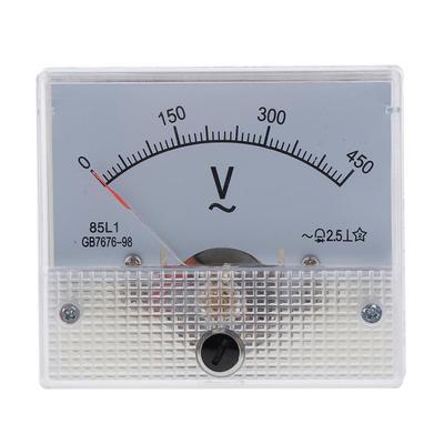 sourcing map AC 0-300V Round Analog Dial Panel Meter Voltmeter Gauge Black