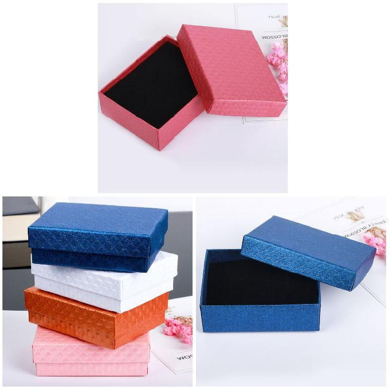 7.1*7.1cm Stud Earrings Necklace Box Display Storage Case Jewelly Gift Box