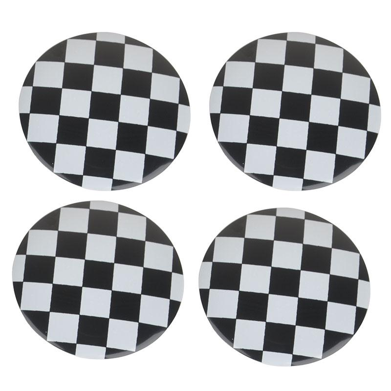 4pcs Grids Wheel Center Hub Cap Badge Emblem Sticker for BMW MINI Cooper 5.5cm
