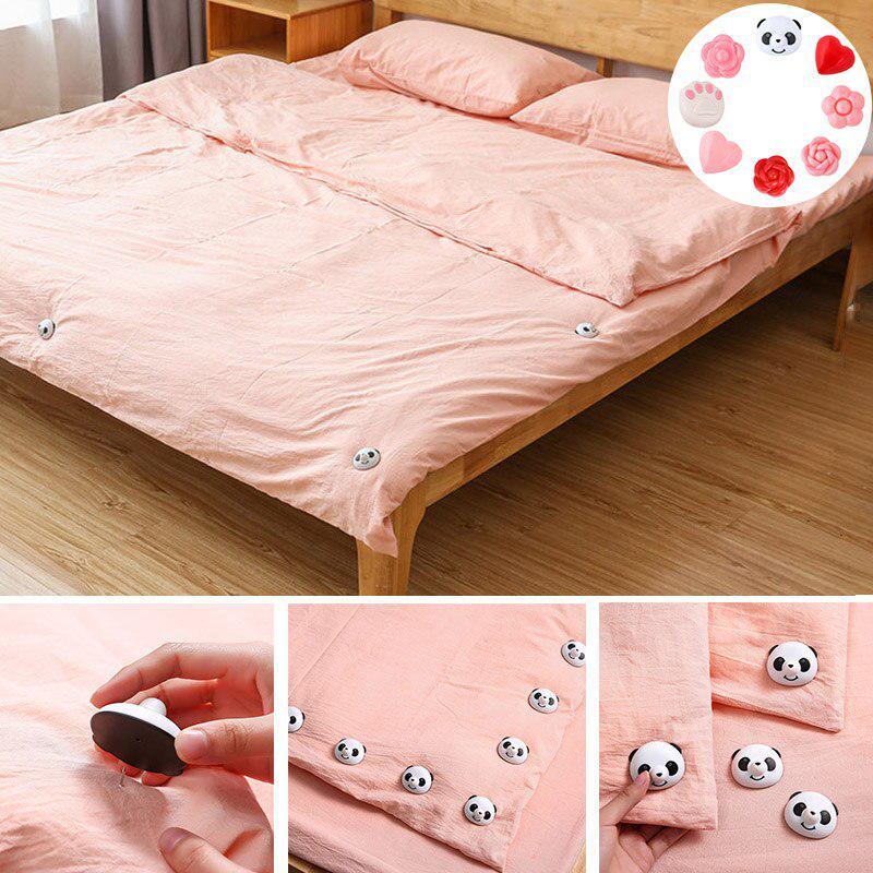 6pcs Comforter Quilt Blankets Fastener Clip Non-Slip Sheet Fixer Bed Cover Duvet