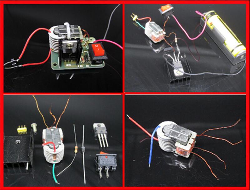 Dc Hochspannungsgenerator Inverter Elektrische Zünder 15kv 18650 Diy Kit Messung Und Analyse Instrumente