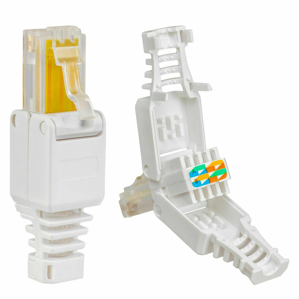 No Crimp POE Connectors Ethernet Cable Tool less CAT40 Crystal Head RJ40  Connector Plug