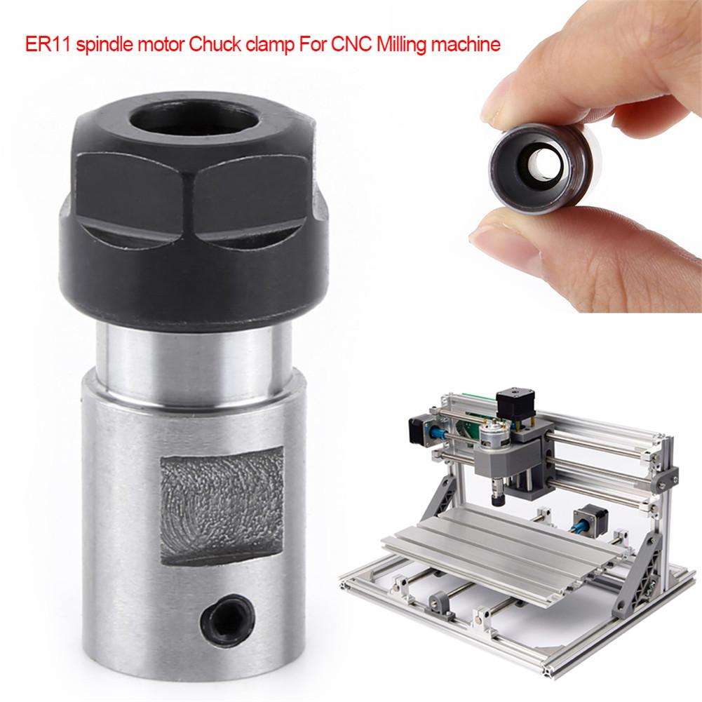 ER11 5MM Motor Shaft Collet Chuck Spindle Extension Rod Inner with ER-A Wrench for CNC Milling