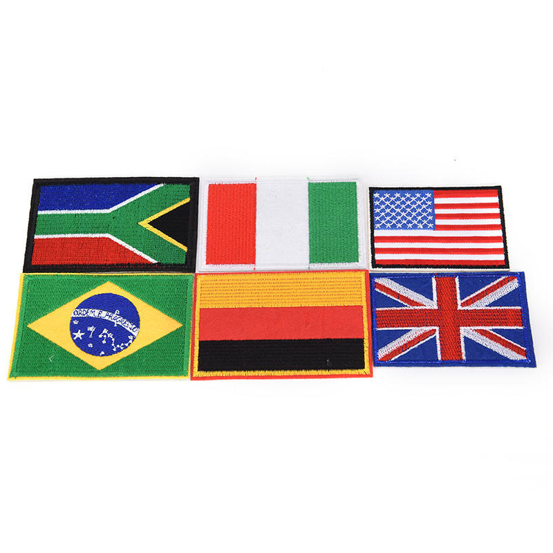 Embroidered Iron Sew On Patches badges transfers appliques Country Nation Flags