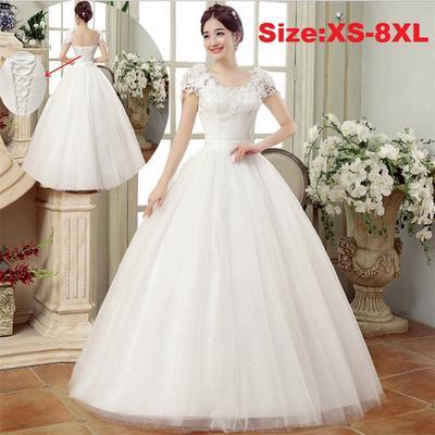 bf0a58d2559 Белый цвет вышитые невесты платье красивый цветок кружева свадебное платье  мягкий сладкий Свадебные платья