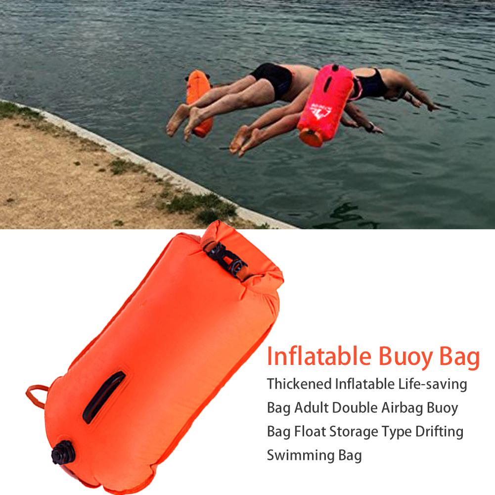 1PC PVC Swimming Buoy Safety Air Dry Tow Bag Float Inflatable Signal Drift Bag@M