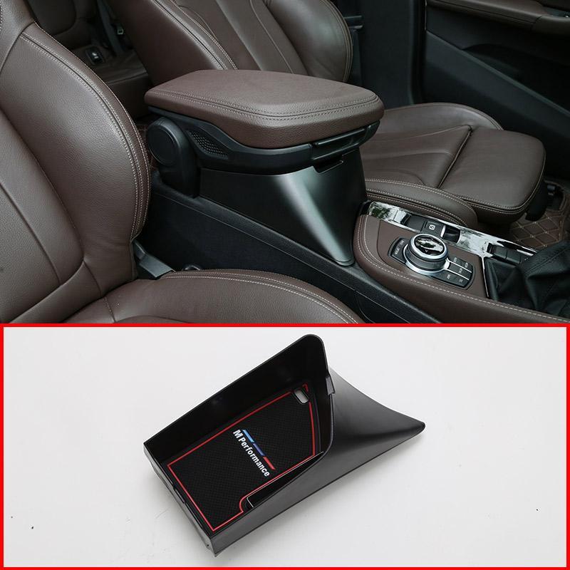 For BMW 2017 X1 Car Center Console Tray Car central armrest box storage box