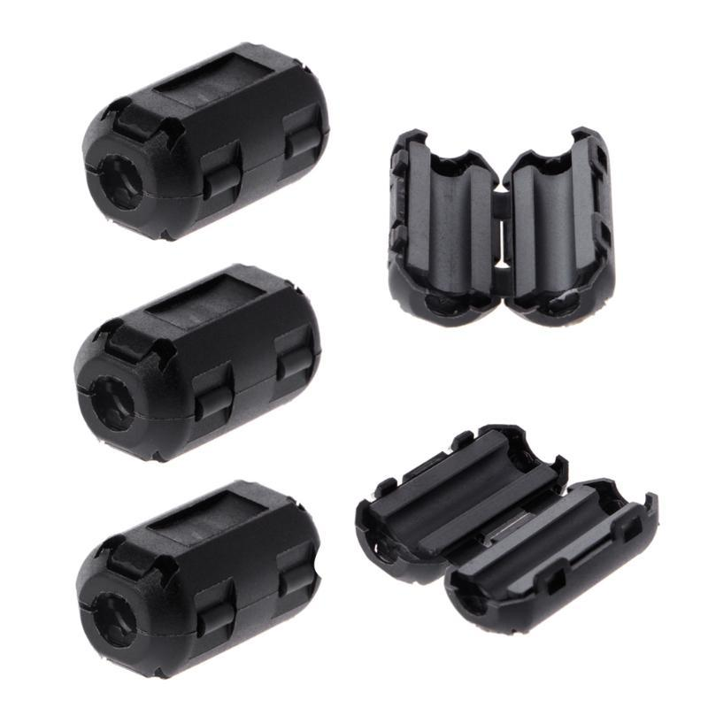 W Mm Noise Suppressor Cable Ferrite Core Filters Plastic Clip Connectors X10