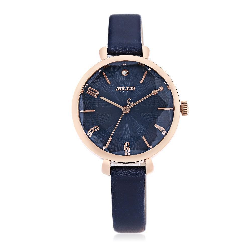 JULIUS Women Solid Mirror Wristwatch Quartz Watch with Artificial Diamond Dial-buy at a low prices on Joom e-commerce platform