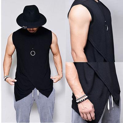 Big Sale BBesty Mens New Summer Letter Printed Vest Fashionable Comfortable Large Vest Blouse Top