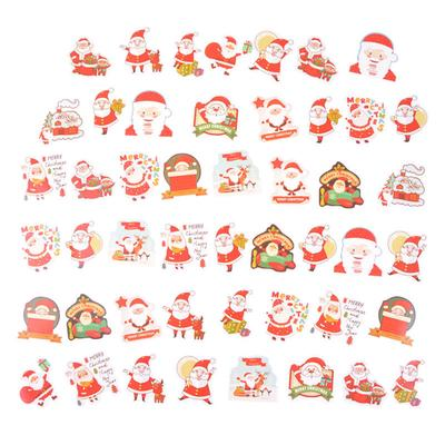1 Set Christmas Cartoon Cute Adhesive Stickers Diary Scrapbook Ornament Gifts