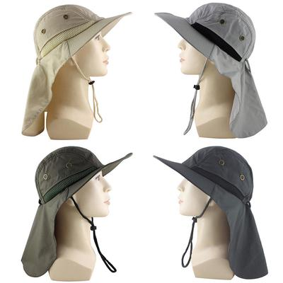 Ear Flap Hat Neck Cover Boonie Camo Fishing Hiking Outdoor Brim Sun Military Cap