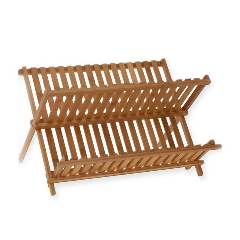 Plegable escurreplatos bambú secado a Rack porta utensilio palero ... 28cf87ee7b0c