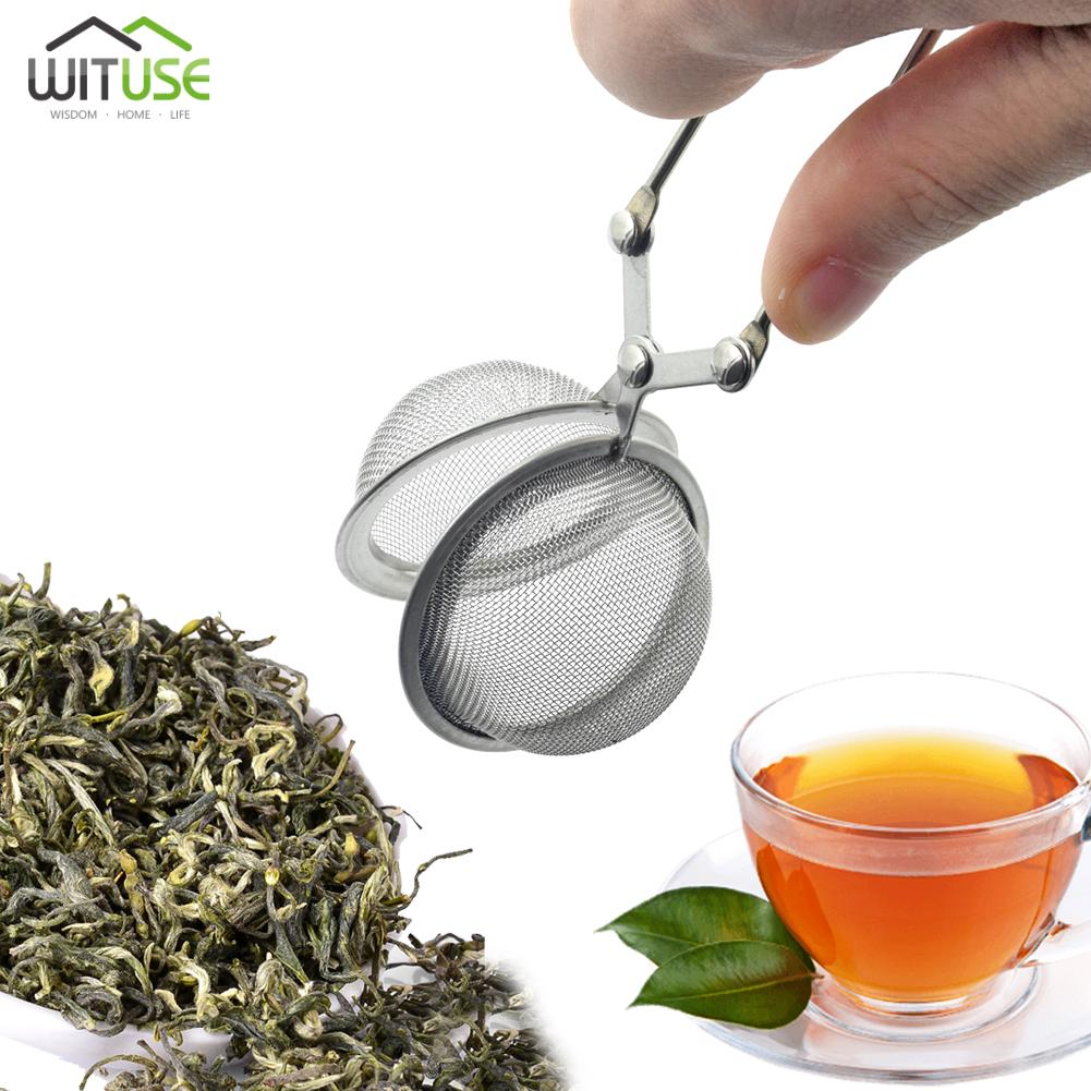 LOOSE LEAF TEA INFUSER SPICE TEA STRAINERS STAINLESS STEEL MESH FILTER PINCER A